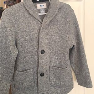 Boys Pee coat XS(5) grey sweater.